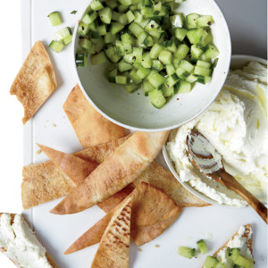 CQ Whipped feta with cucumbers